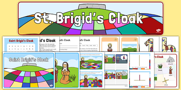 Saint Brigid's Day Resource Pack - Saint Brigid, close activity, solutions, reading, Ireland