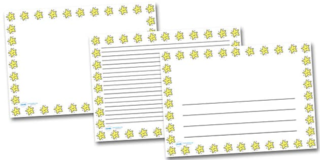 Smiley Star Landscape Page Borders- Landscape Page Borders - Page border, border, writing template, writing aid, writing frame, a4 border, template, templates, landscape