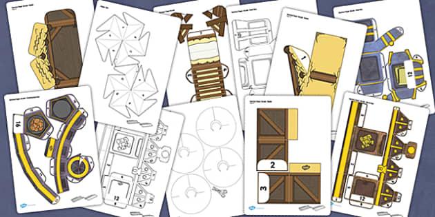 Nativity Paper Model Resource Pack - nativity, craft, pack, paper