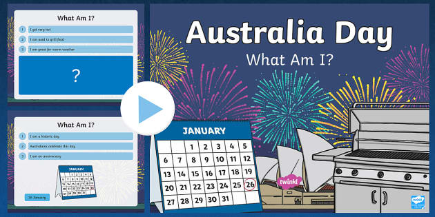 Australia Day 'What Am I?' PowerPoint - australia, powerpoint
