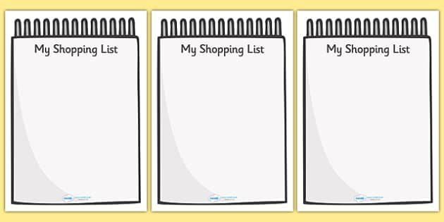 My Shopping List Writing Frames (A4) - my shopping list writing frames, my shopping list, shopping list, list, writing frames, writing template, writing frames, word cards, flashcards, template, A4, shopping