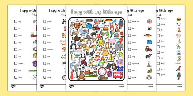 I Spy with My Little Eye Activity I spy with my little eye I – I Spy Worksheets