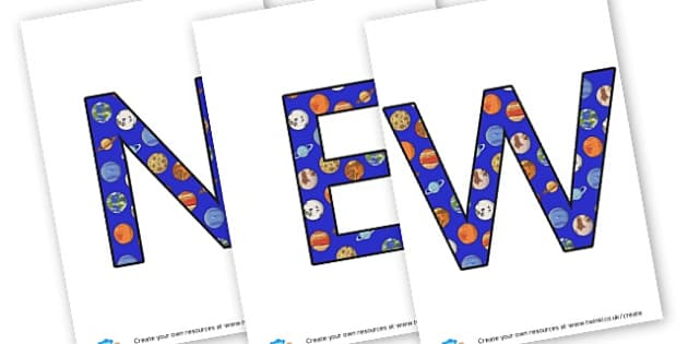 News! - display lettering - Display Lettering Primary Resources, cut out, letters, display