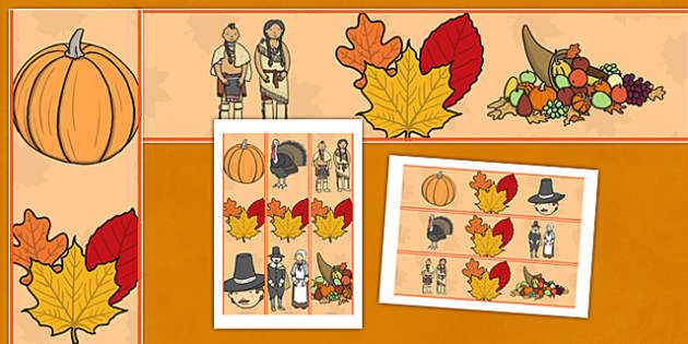 Thanksgiving Display Border - thanksgiving, display border, classroom display, display edging, edge for display, thanksgiving theme, classroom decorations, turkey, harvest celebrations, autumn, united states, usa, canada, holiday, reformation