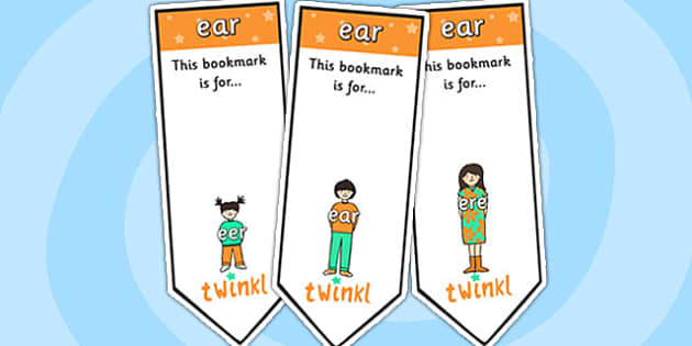 ear Sound Family Editable Bookmarks - ear sound family, editable bookmarks, bookmarks, editable, behaviour management, classroom management, rewards, award