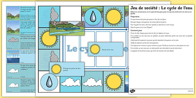Water Cycle Game French - french, water cycle, game, water, cycle, science