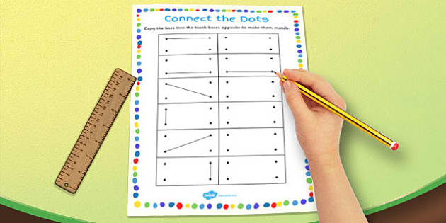 Visual Perception Connect the Dots Worksheet - connect, dots