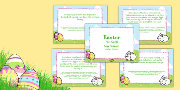 Easter Display Fact Cards Polish Translation - polish, easter, display, facts, fact cards