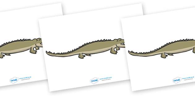 Editable Crocodile - crocodile, display, editable, label, Australia, kangaroo, wallaby, kookaburra, wombat, crocodile, koala, possum