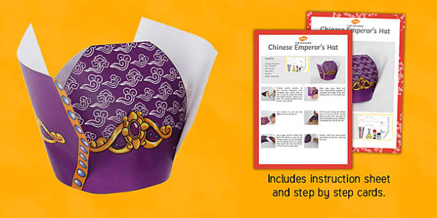 Chinese Emperor's Hat Craft Instructions - crafts, instruction