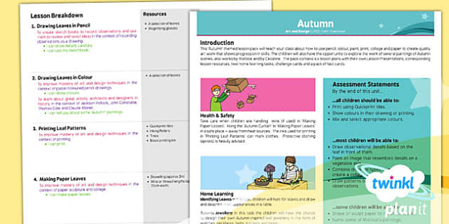 PlanIt - Art LKS2 - Autumn Planning Overview - planit, art, autumn