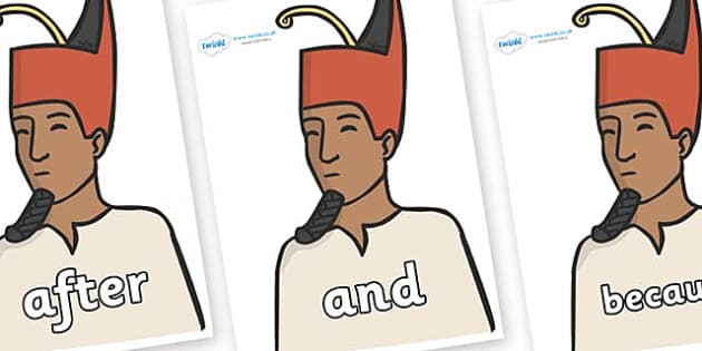 Connectives on Egyptian Kings - Connectives, VCOP, connective resources, connectives display words, connective displays