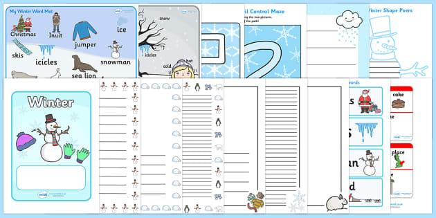 Winter Literacy Resource Pack - winter, literacy, english, pack