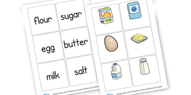 Ingredients Wpord and Picture Cards - Food, Drink and Eating Games and Activities Primary Resources - F
