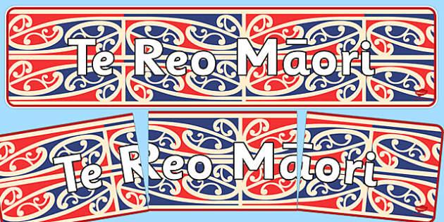 Te Reo Maori Display Banner - nz, new zealand, Te Reo Maori, display banner, display, banner