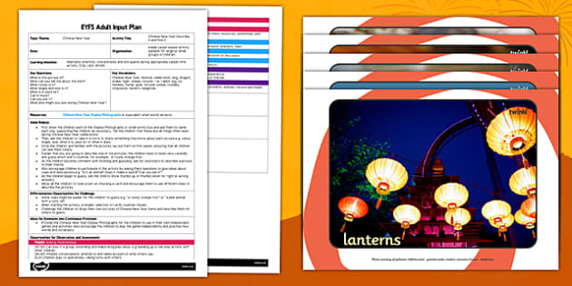 Chinese New Year Describe It and Find It EYFS Adult Input Plan and Resource Pack - chinese new year, describe it, find it, eyfs, adult input, pack