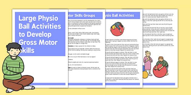 Large Physio Ball Gross Motor Skills Activities - activities