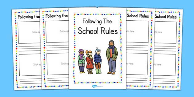 Following the School Rules Booklet - school rule, booklet, follow