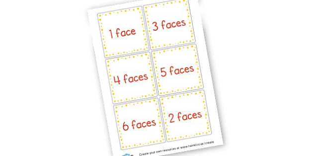 3d Shape Faces Cards - 3D Shapes Primary Resources, spaces, measures, shape, activities