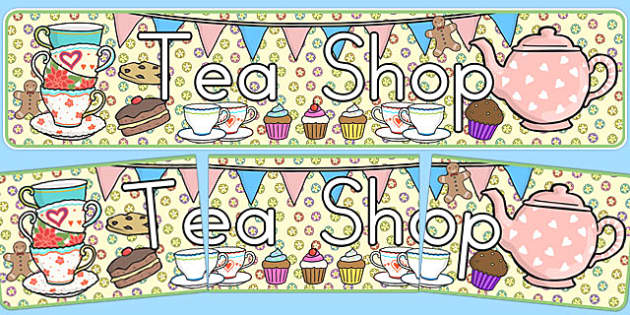 Tea Shop Role Play Banner - australia, tea shop, role-play, banner, display