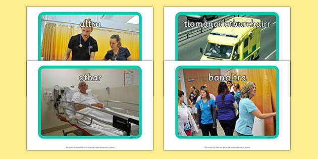 Irish Occupations The Hospital Display Photos Gaeilge - display, photos, occupations, hospital, Gaeilge, Irish
