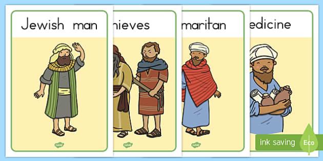 The Good Samaritan Display Posters - usa, america, the good samaritan, samaritan, help, helping, display, posters, sign, jewish, thieves, bible story, Jesus, priest, Levite, kind, good samaritan