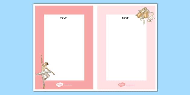 Ballet Editable Note - ballet, dance, creative, editable note