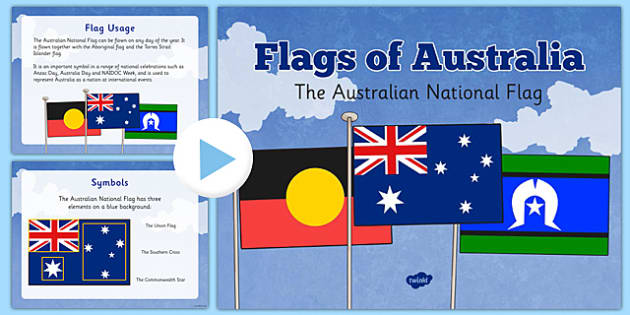 Flags of Australia Australian National Flag Information PowerPoint - australian, country, nation, international, world, culture, colour, art, presentation, class, teacher, led