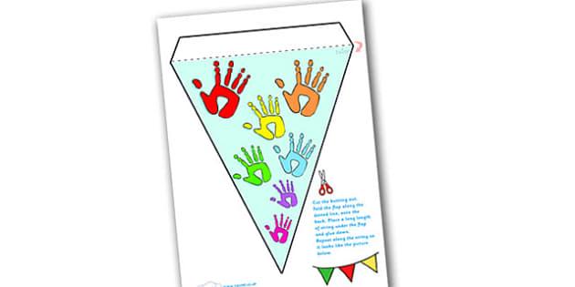 Handprint Display Bunting-handprint, display, bunting, display bunting, bunting for display, classroom display, classroom decoration