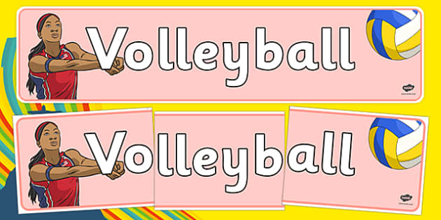 The Olympics Volleyball Display Banner - Volleyball, Olympics, Olympic Games, sports, Olympic, London, 2012, display, banner, poster, sign, activity, Olympic torch, events, flag, countries, medal, Olympic Rings, mascots, flame, compete