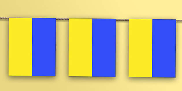 Ukraine Flag Bunting - nation, international, geography, culture, display, Europe, olympics