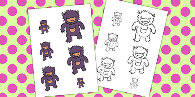 Monster Size Ordering - monster, size, ordering, numeracy, order