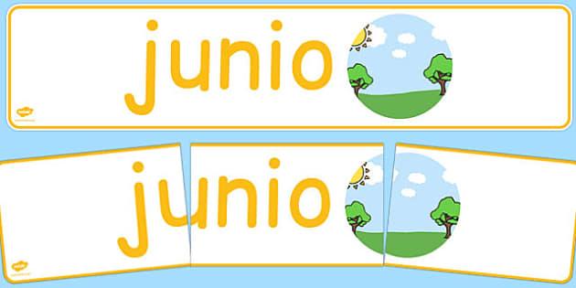 Junio Display Banner Spanish - spanish, year, months of the year, june