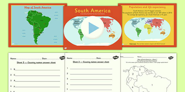 Introduction to South America Lesson Teaching Pack - geography