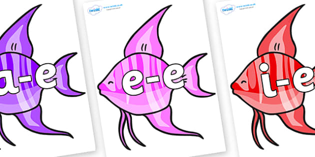 Modifying E Letters on Angelfish - Modifying E, letters, modify, Phase 5, Phase five, alternative spellings for phonemes, DfES letters and Sounds