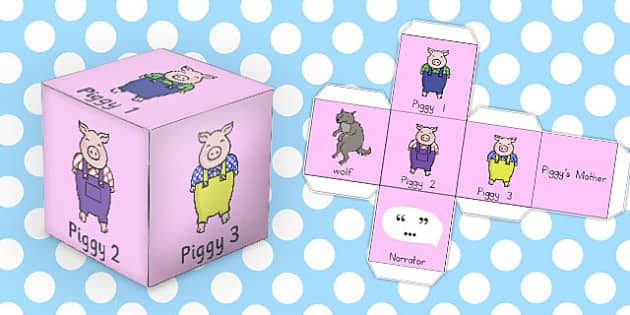 The Three Little Pigs Role Play Dice - australia, role play, dice