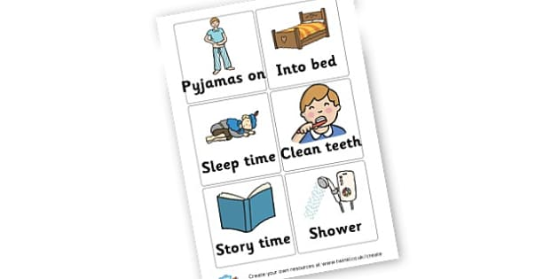 Bedtime Routine Cards - Home Routine and Timetable, Resource, Home School, Discipline