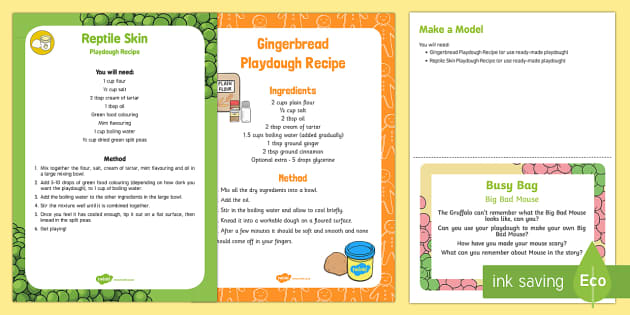 Big Bad Mouse Playdough Busy Bag Prompt Card and Resource Pack
