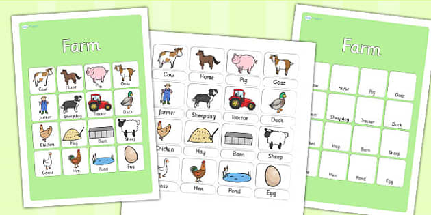 Farm Vocabulary Poster - farm, vocab poster, farm display, vocab