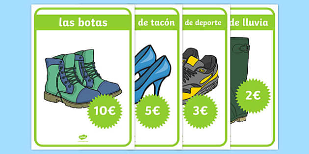 La zapatería Shoe Shop Role Play Posters Spanish - spanish, Shoe shop, shoes, role play, shop, trainers, display, poster, shoe box, labels, measuring chart, word cards