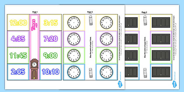 Time Writing Clocks Foldable Visual Aid Template Arabic Translation - time, clock, tell, analogue, maths, ssm, ks1, year 1, year 2, arabic, eal