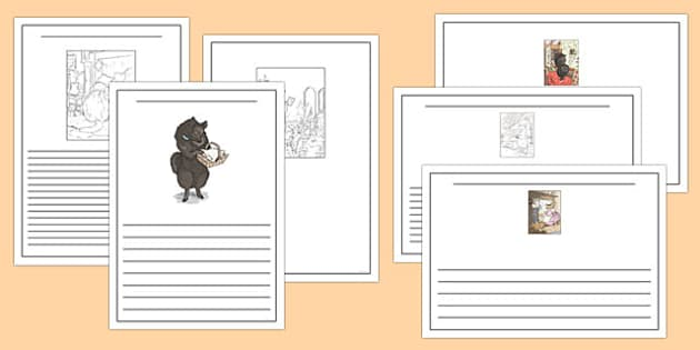 Beatrix Potter - The Tale of the Pie and the Patty Pan Story Writing Frames - beatrix potter, pie, patty pan, story writing frames