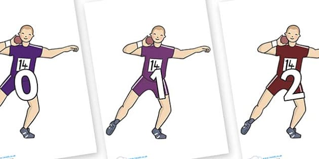 Numbers 0-100 on Shot Put - 0-100, foundation stage numeracy, Number recognition, Number flashcards, counting, number frieze, Display numbers, number posters