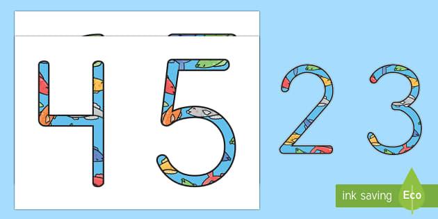El pez arcoiris números de exposición - Bajo el mar, proyecto, contar, recta numérica, sumar, restar, operaciones,