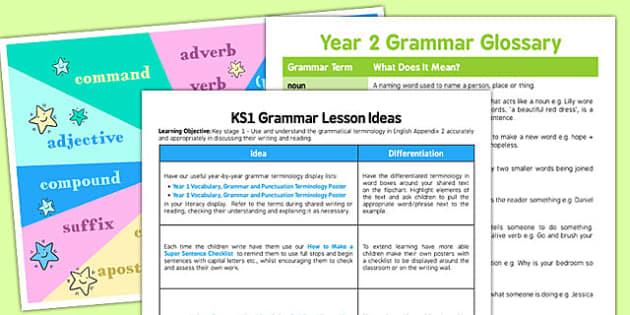 Year 2 Grammar Pack - year 2, grammar pack, grammar, pack, writing