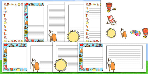My Summer Holiday Page Borders - my summer holiday page borders, my holiday, my summer holiday, page borders, my holiday page borders