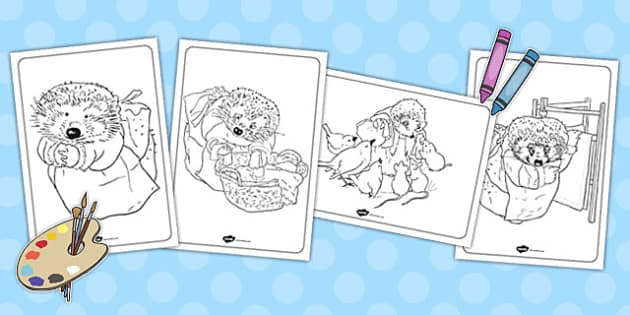 The Tale of Mrs Tiggy Winkle Colouring Sheets - mrs tiggy winkle, colouring