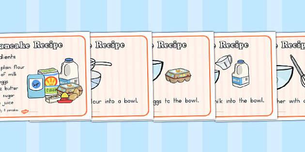 Pancake Recipe Sheets with Measurements - australia, pancake