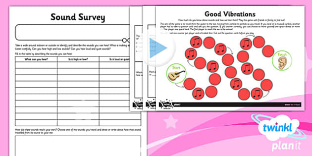 PlanIt - Science Year 4 - Sound Home Learning Tasks - planit, science, year 4, sound