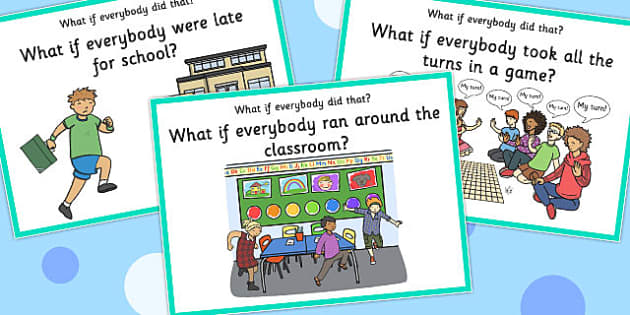 'What if Everyone Did That?' Cards (Set 2) - what if, everyone, did, cards